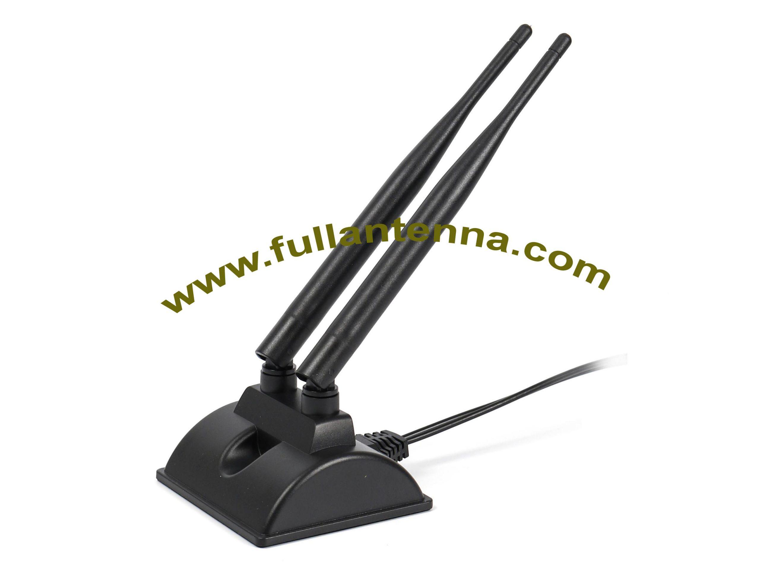 P/N:FA2.45.8G.20,WiFi/2.4G 5.8G External Antenna,2.4G 5.8G antenna for  WiFi Router easy mount