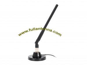 P / N: FA2400.0605, zewnętrzna antena WiFi / 2.4G, montaż magnetyczny, zysk SMD RP 5A na męski