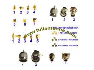 FA.RF Connectors3,all kinds of MCX,MMCX,BNC,TNC,N,IPEX,SMB,SMC connectors or customized
