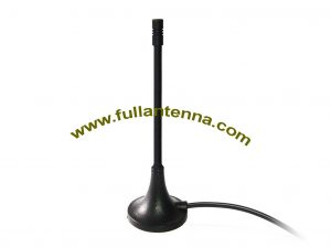P/N:FAGSM.04,GSM External Antenna,magnetic mount rubber whip  SMA male